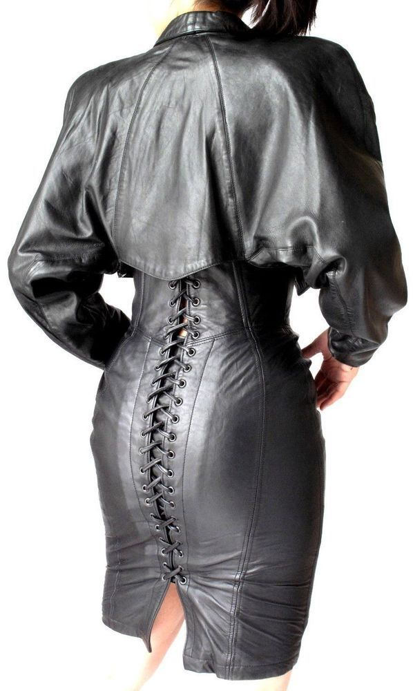 NORTH BEACH BLACK LEATHER  LACED DRESS and JACKET SUIT | Clothing, Shoes & Accessories, Women's Clothing, Dresses | eBay!