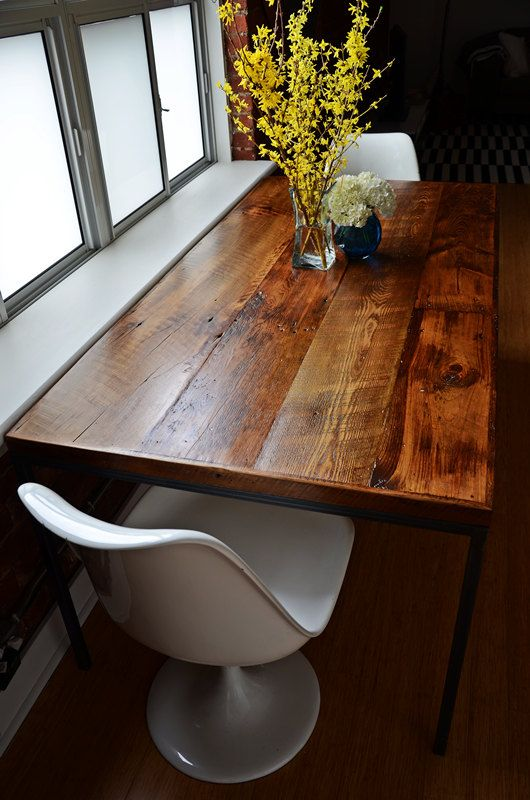 Barn Board Kitchen Dining Table Reclaimed by Sonofawoodcutter