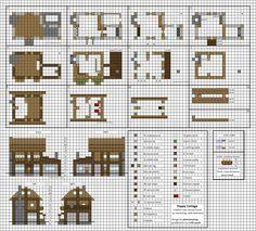 Poppy Cottage - Medium Minecraft House Blueprints by planetarymap.deviantart.com on @DeviantArt