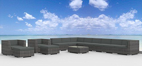 Special Offers - Cheap Urban Furnishing  NEWPORT 14pc Modern Outdoor Backyard Wicker Rattan Patio Furniture Sofa Sectional Couch Set  Charcoal - In stock & Free Shipping. You can save more money! Check It (January 22 2017 at 08:24AM) >> https://gardenbenchusa.net/cheap-urban-furnishing-newport-14pc-modern-outdoor-backyard-wicker-rattan-patio-furniture-sofa-sectional-couch-set-charcoal/