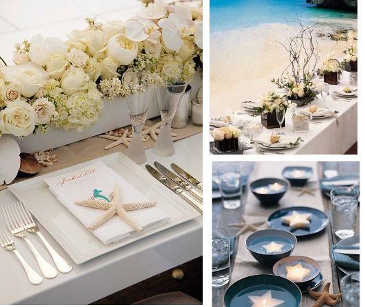 Beach Wedding Table Decoration