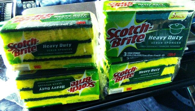 Got these 3 packs of Scotch Brite sponges for $1.13 each normally priced at $2.99 each. Used 2 MQ's for $.75 each and Publix BOGO offer. Great buy and good item to stock up on.