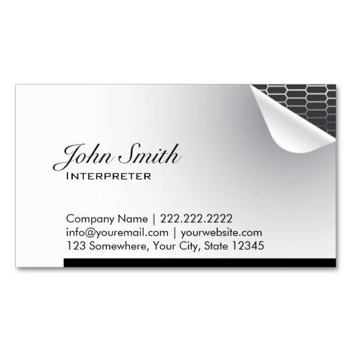 212 best interpreter business cards images on pinterest for Sample private investigator business cards