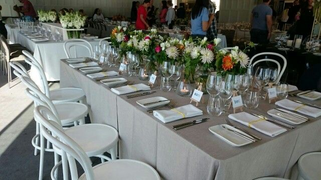 Table decorations: modern