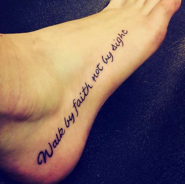 25 Best Ideas About Faith Quote Tattoos On Pinterest: 25+ Best Ideas About Foot Quote Tattoos On Pinterest