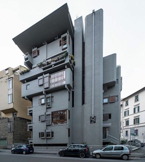 Casa per apartamenti, Florence, Italy, built in 1964 architect: Leonardo Savioli…