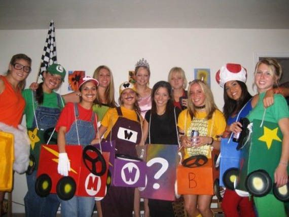 need a group costume idea for 8 or more of your closest friends a mario kart group costume is a fun solution with tons of unique characters and even prop - Halloween Group Costume Themes