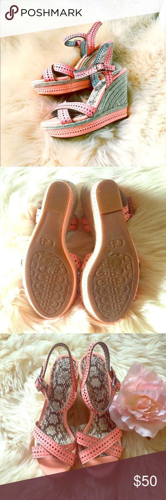 Gianni Bini Pink Espadrille Wedges - NWOT These are so cute and perfect for summer. Never worn. Light weight. Easy to walk in. Gianni Bini Shoes Espadrilles