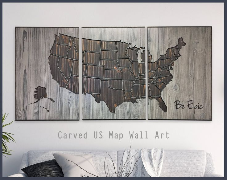 US Map Home Wall Decor, US Map Wall Art, Wood Wall Art, Howdy Owl Maps, Anniversary Gift, Valentine's Day Idea, Rustic, US Map Decor, Carved by HowdyOwl on Etsy