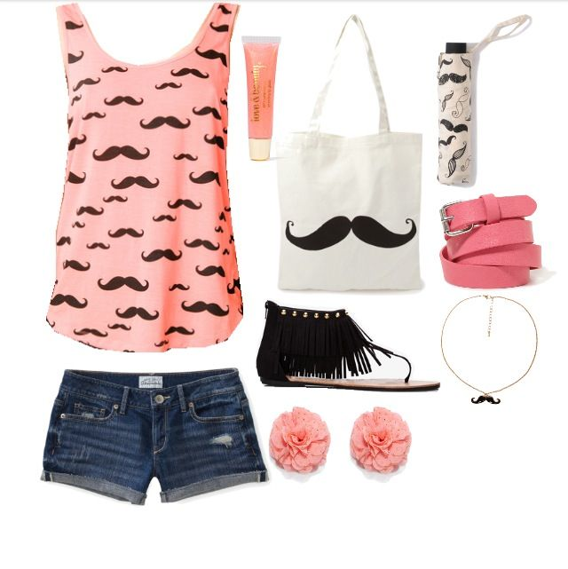 Cute mustache outfit