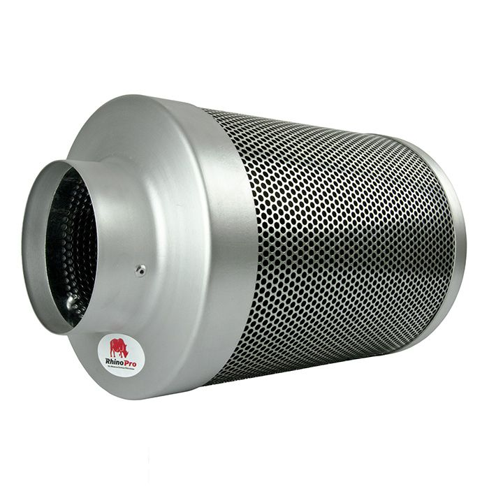 The 5 inch carbon filter from Rhino Pro is suitable for use with both low-power and high-power fans. It is highly important to match your fans with the right carbon filter as a mismatch will make for less effective odour control and will reduce the lifespan of your ventilation equipment.