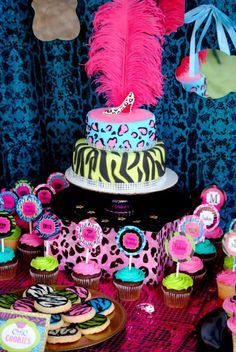 GLAMOUR GIRL - Animal Print - Cheetah Party- Zebra - Diva - Rock Star - Neon CANDY JAR LABELS
