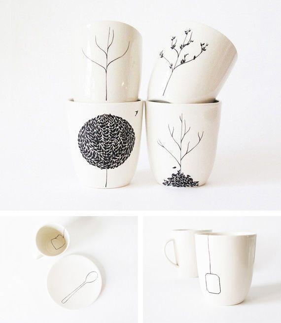 marker on coffee mug