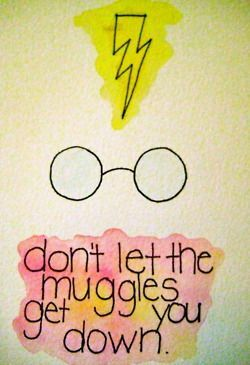 """""""Don't let the muggles get you down""""."""