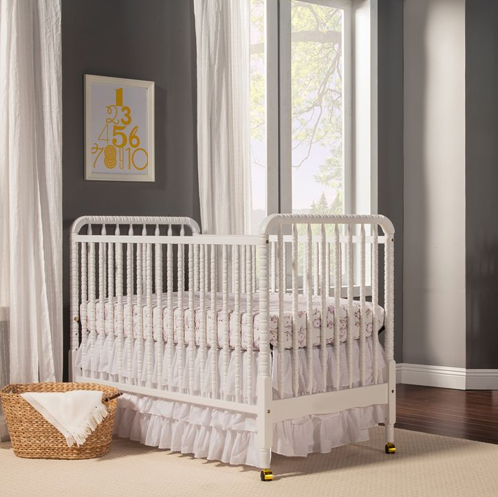 There's nothing more lovely than a clean, white crib - and we love the Jenny Lind!
