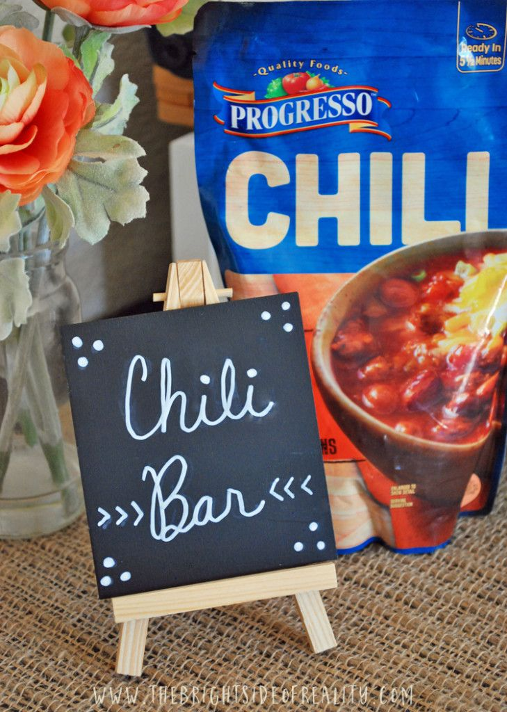 chili bar ideas and free happy fall yall printable |chili bar party|easy dinner|weeknight dinner| #spon #NationalChiliMonth #ProgressoChili