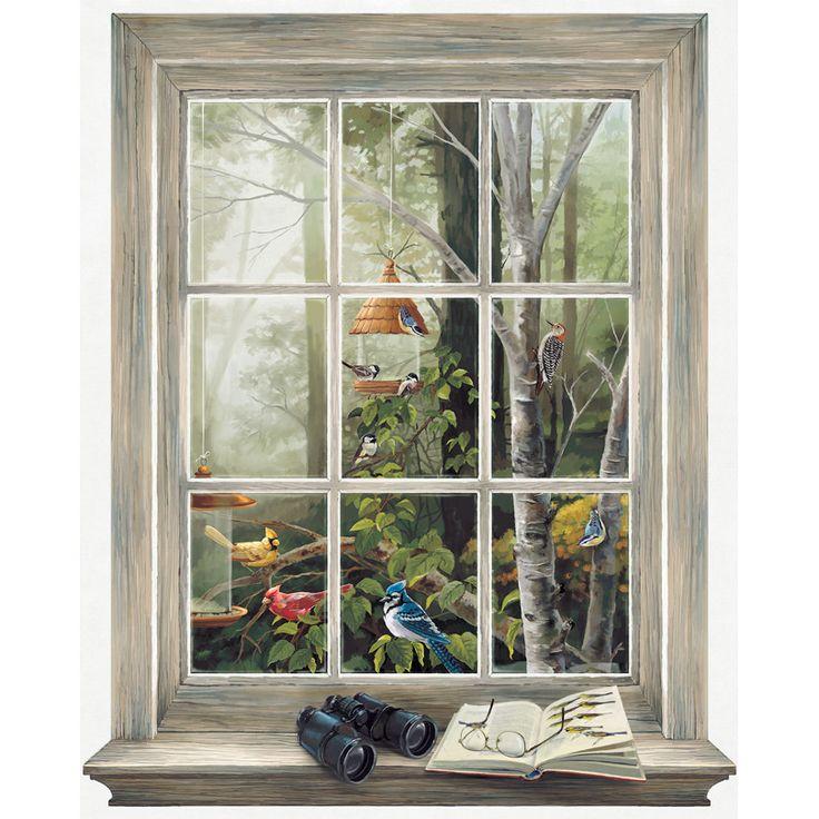 Йорк Покрытиями Mural Portfolio II Наблюдение за птицами Trompe L'Oiel Настенная & обзоры | Wayfair