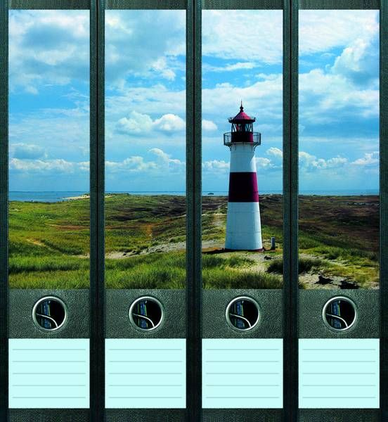 Lever Arch File Label Lighthouse AJ007