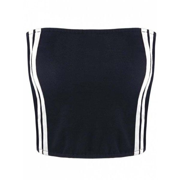 Cropped Striped Tube Top ($7.37) ❤ liked on Polyvore featuring tops, striped crop top, white tube top, striped top, crop tops and stripe crop top