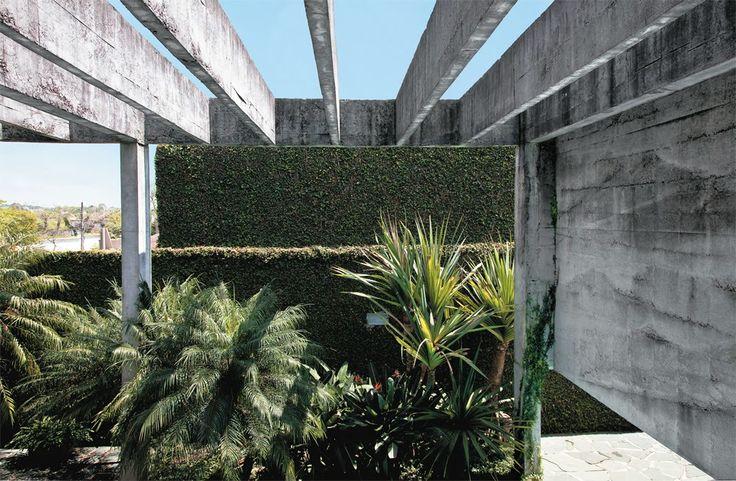 Vilanova Artigas, João Batista Vilanova Artigas, Marcos Bertoldi, Casa Edgard Niclewicz, concrete, exterior,