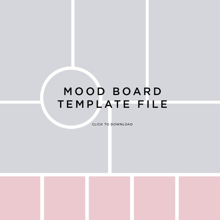 Mood Board Template File By Fancygirl Design Studio Mind Store Pinterest Studi Design E