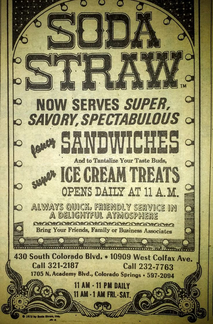 Loved Soda Straw.  Puked each time I went.