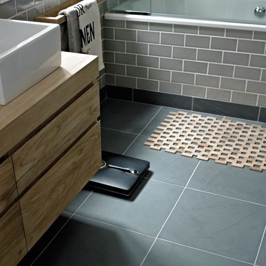Urban Slate from Fired Earth | Bathroom flooring ideas | housetohome.co.uk
