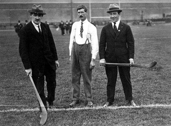 Collins and Boland with the ref before a Hurling Match in Croke Park Aug/Sept 1921