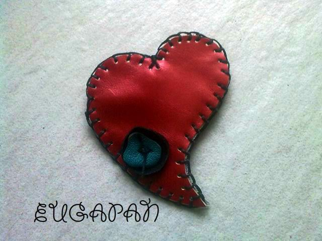 handmade leather pin