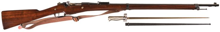 Berthier Mle 1907-15 rifle Manufactured by Remington c.1914-15 for the French army - no serial number. 8mm Lebel three-round en-bloc clip, bolt action, Mle 1886/16 spike bayonet.