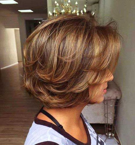 9. Short Layered Bob