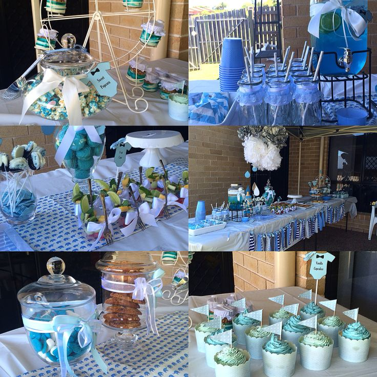 Blue, White & Grey Baby Shower