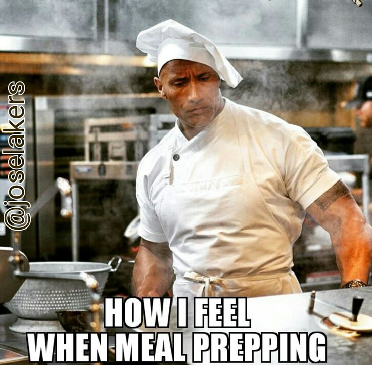 Gym humor...meal prepping