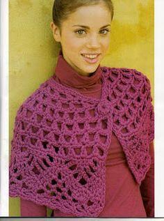 Receitas de Crochet: capelet