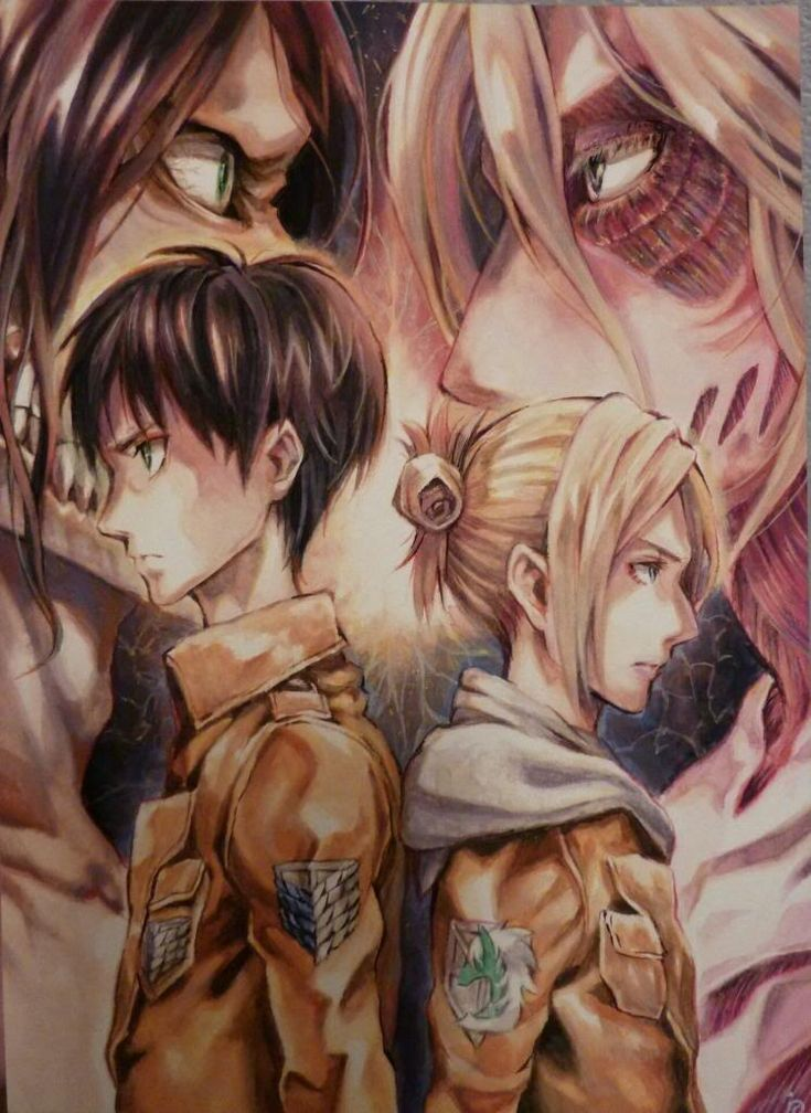 Eren Jaeger/Jäger/Yeager x Annie Leonhardt/Leonhart | EreAnnie / ErenAnnie / EreAnni / Erennie / Erenni | Titan Shifters | Attack on Titan/Shingeki no Kyojin AoT/SnK | Anime manga couple | OTP
