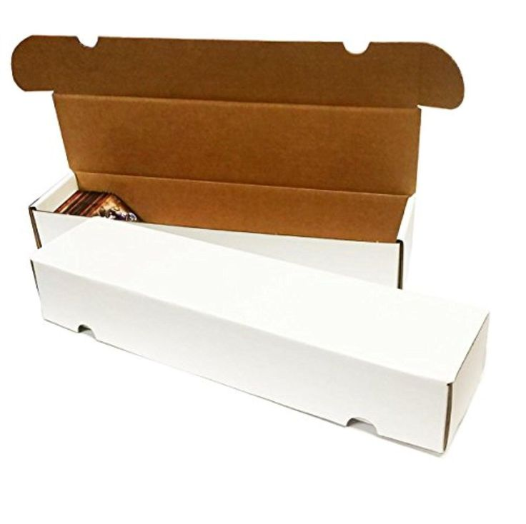 (2) - 660 Count Corrugated Cardboard Storage Box by Max Pro for Baseball, Football, Basketball, Hockey, Nascar, Sportscards, Gaming & Trading Cards Collecting Supplies - Brought to you by Avarsha.com