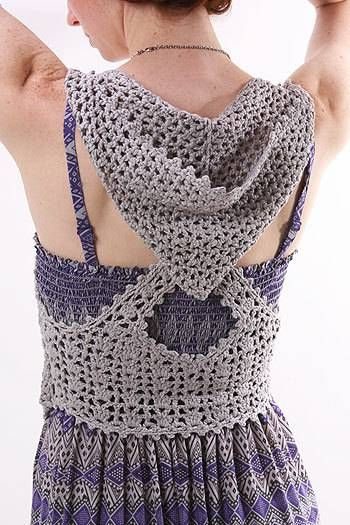 crochet vest with hood (charted)