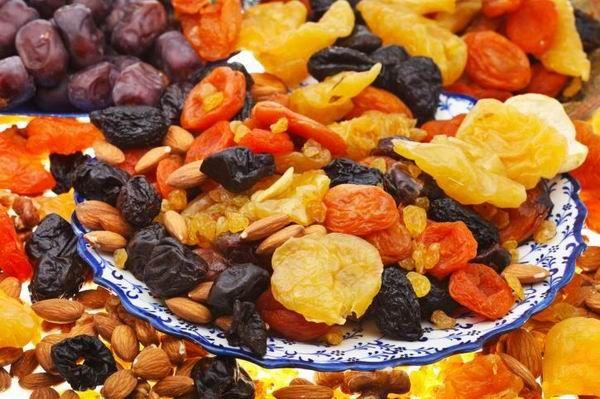 aszalt és kandírozott gyümölcsök