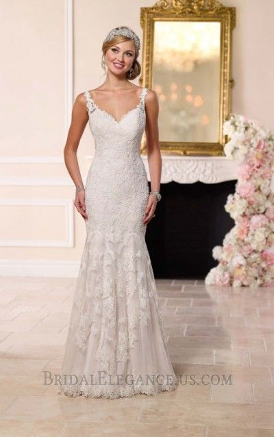 Romantic Lace Fit & Flare Gown 223436 | Wedding Gowns | Bridal Elegance