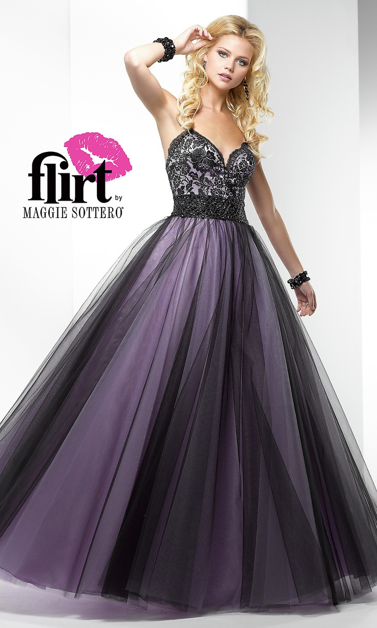 Black and Purple Ball Gowns – fashion dresses