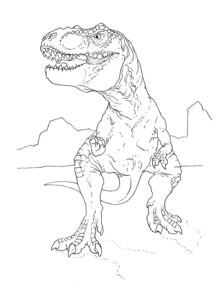 t rex coloring pages for preschoolers - photo #47
