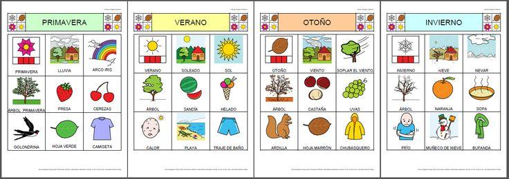 Bingo de sobre las estaciones del año.