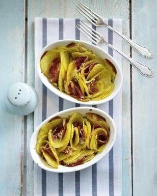 Gratinierte Kartoffeln mit Pancetta und Greyerzer-Käse