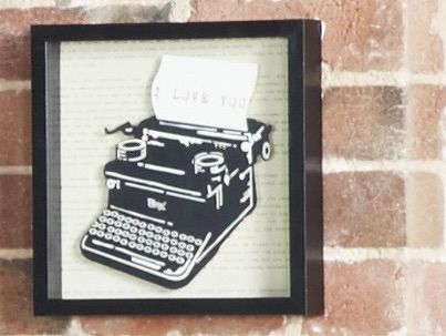 Cut-and-paste art screams attitude! Pick a piece that says something about you and your bedroom space. This cute typewriter works great with the Cooma suite from Bedshed.