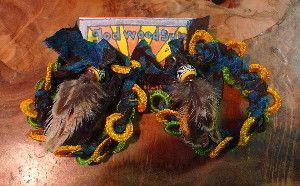 アフリカのテキスタイルを編み込んだピアス羽付きインドのミラーワークに使われるパーツも編み込まれてます♪|ハンドメイド、手作り、手仕事品の通販・販売・購入ならCreema。