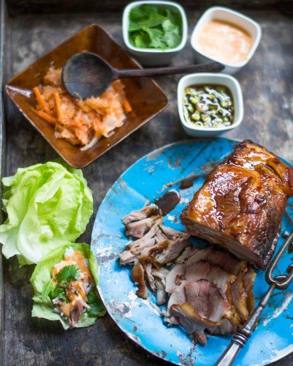 Bo Ssäm, pork in korean way, Bo Ssäm eli possuateria korealaisittain, resepti – Ruoka.fi
