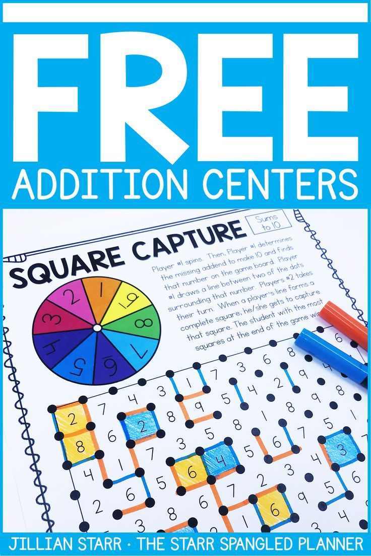 Free Addition, Subtraction & Number Recognition Centers | Math ...