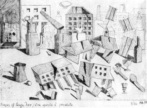 """Aldo Rossi's sketch """"Ora questo e' perduto."""""""