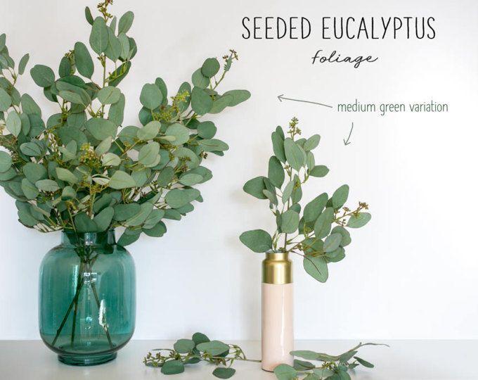 Seeded Eucalyptus Foliage Faux Eucalyptus Spray Minimalist Decor Green Eucalyptus Leaves A Artificial Plants Artificial Plants Decor Artificial Plant Wall