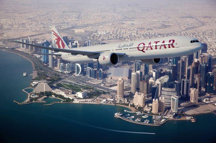 Boeing 777-300ER de Qatar Airways à Doha